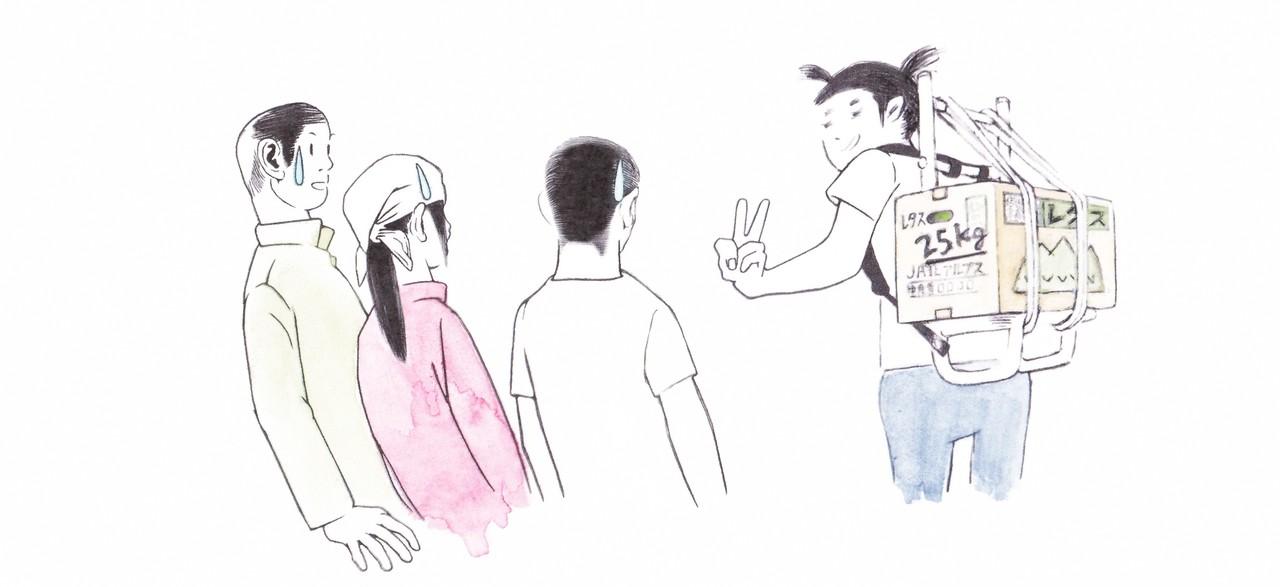 Cakes連載吉玉サキさんの小屋ガール通信第4話イラスト絵と図