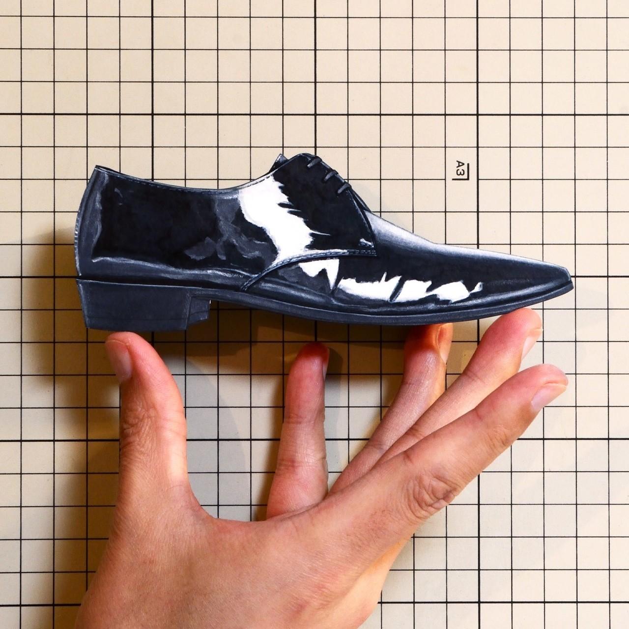 "Shoes:01249 ""CELINE"" Derby Celine Jacno in patent calfskin(SS2019)"
