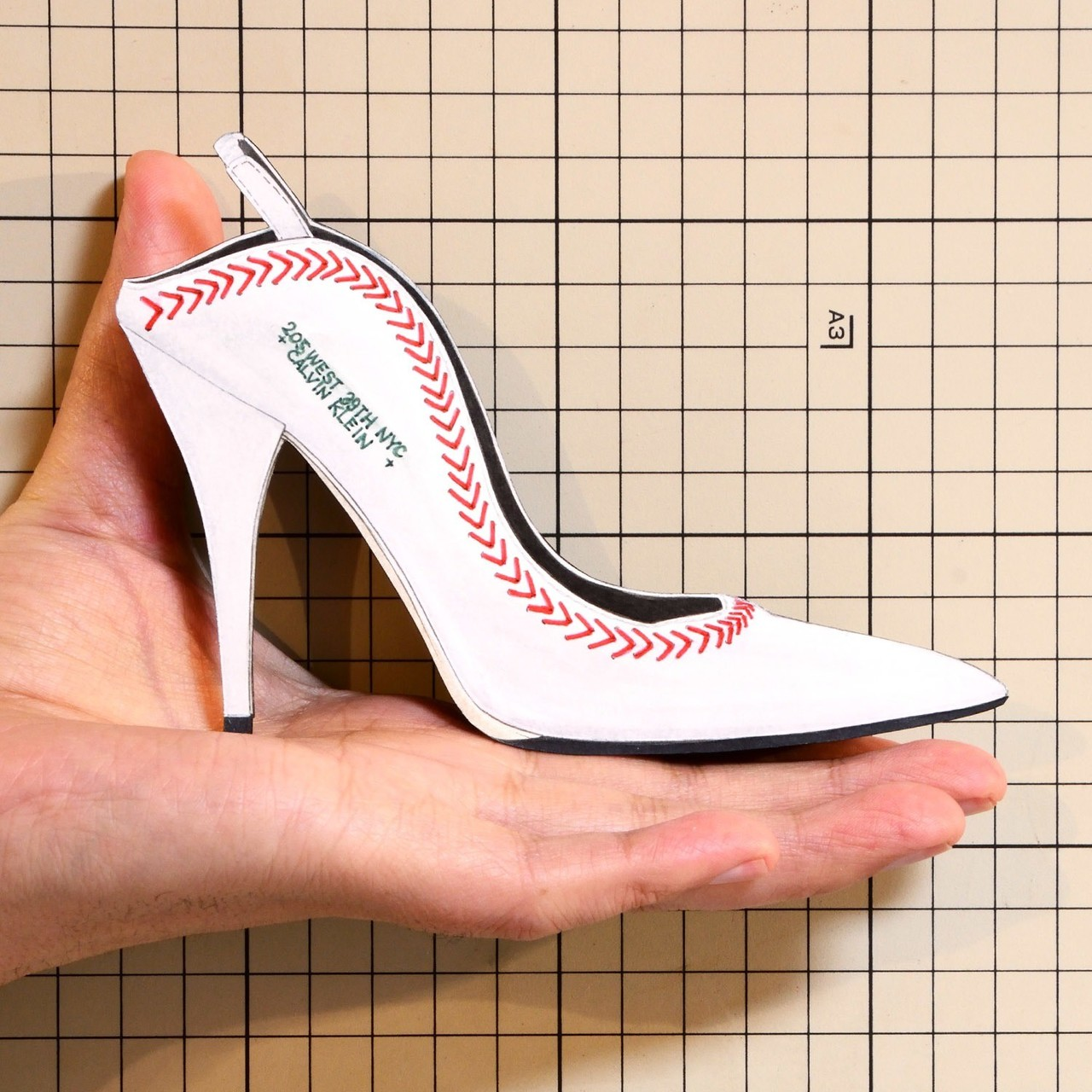 """Shoes:01256 """"CALVIN KLEIN 205W39NYC"""" Jackie Leather Slingback Pump"""