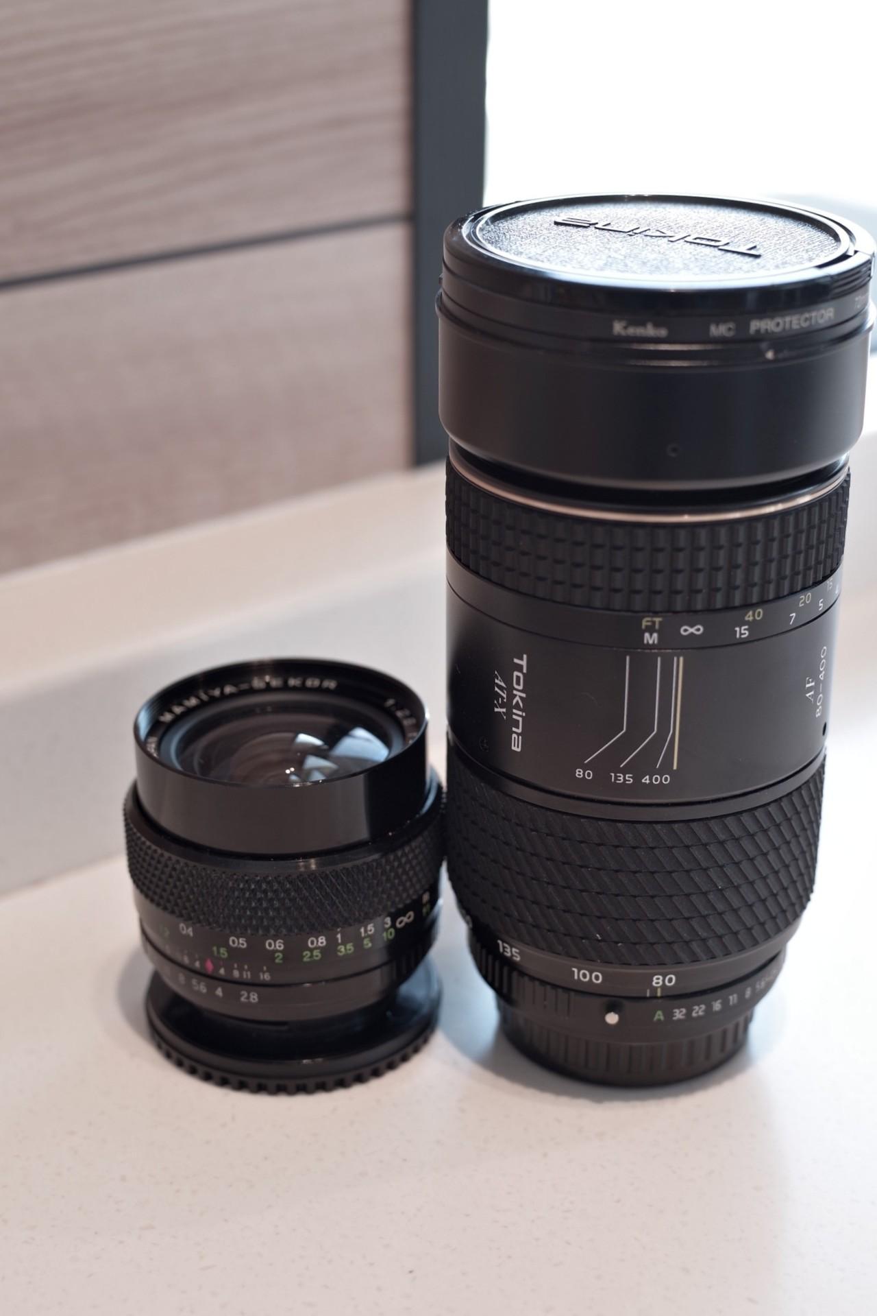 マミヤセコール24mmF2.8問題無し)とトキナー80-400mmF4.5-5.6(コーティング?カビ?)