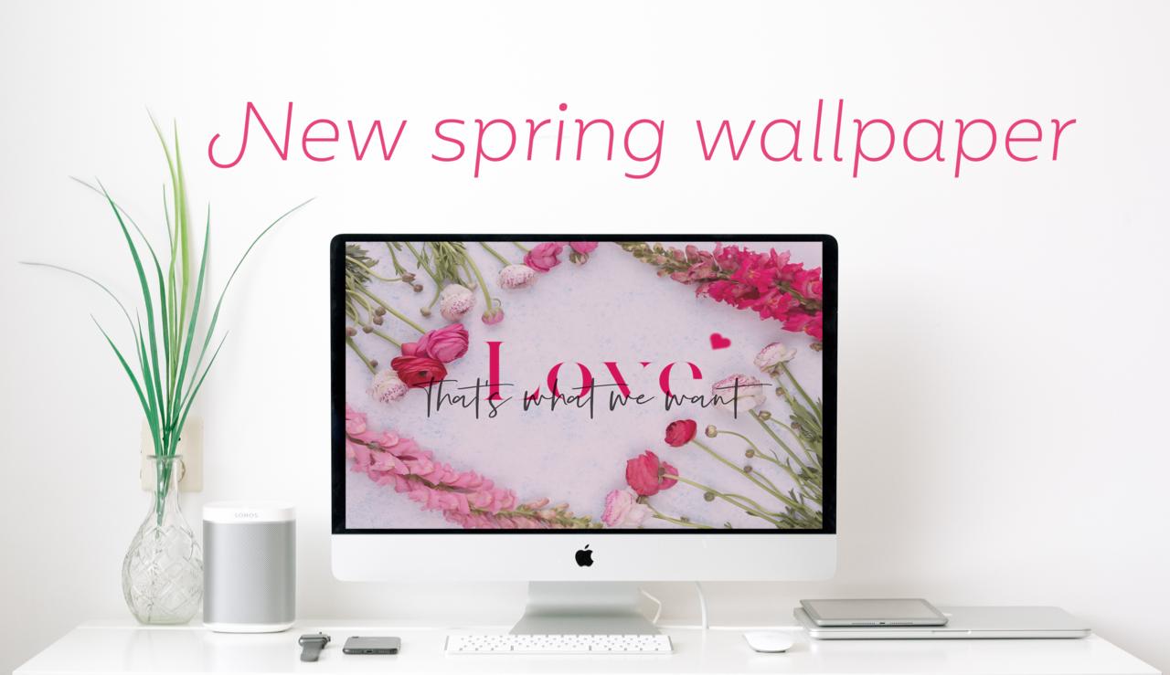 春らしいデザインの壁紙を作りました。無料でダウンロードいただけます。気に入ったらシェアお願いします!