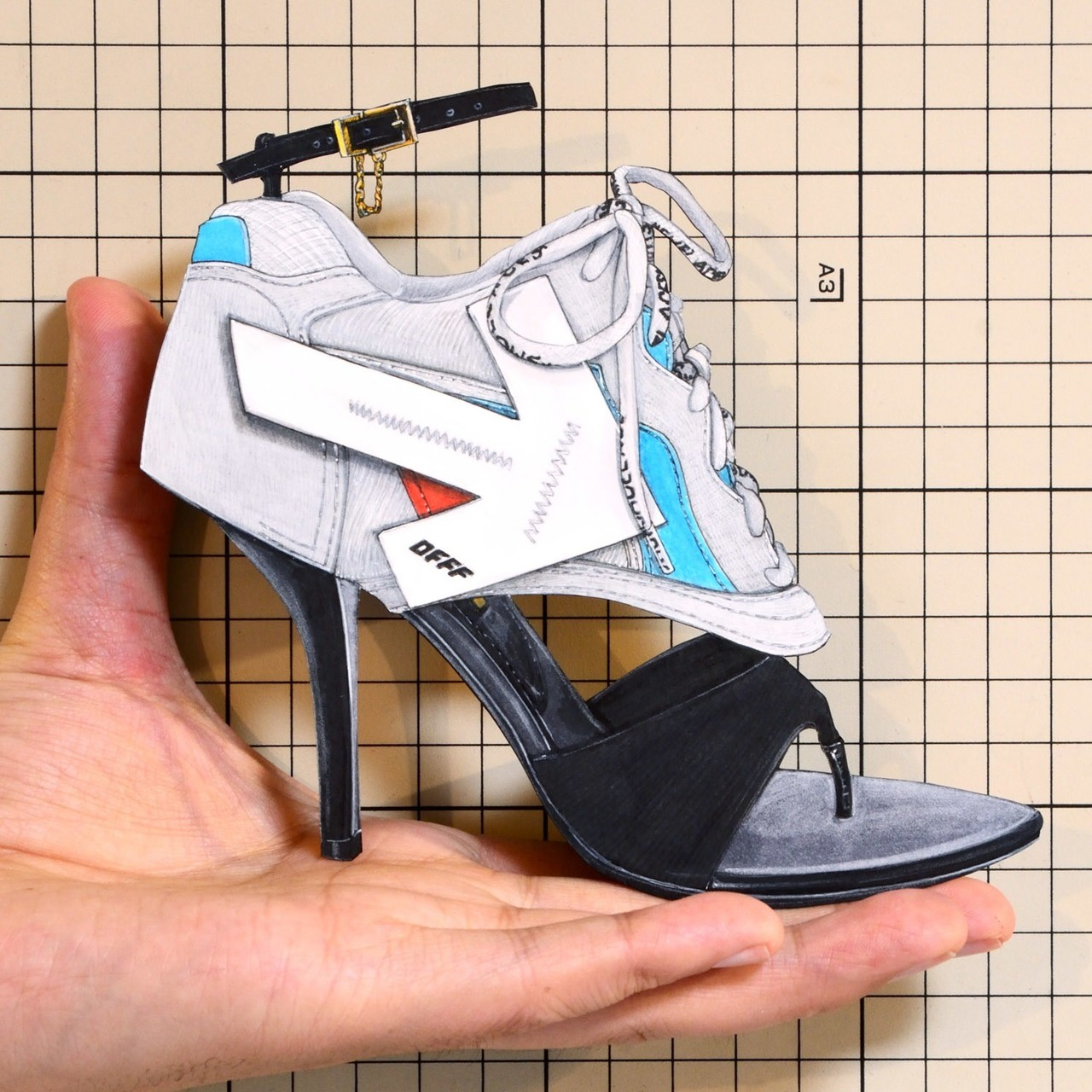 "Shoes:01265 ""Off-White"" High-Heel Sneaker(SS2019)"
