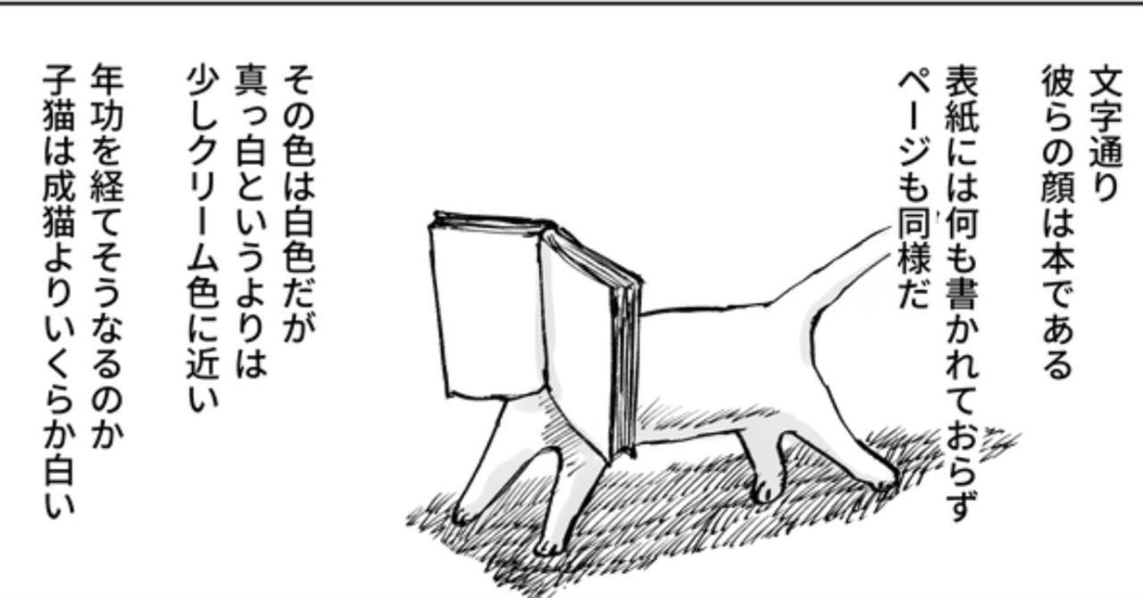 顔が本の猫ショート_001