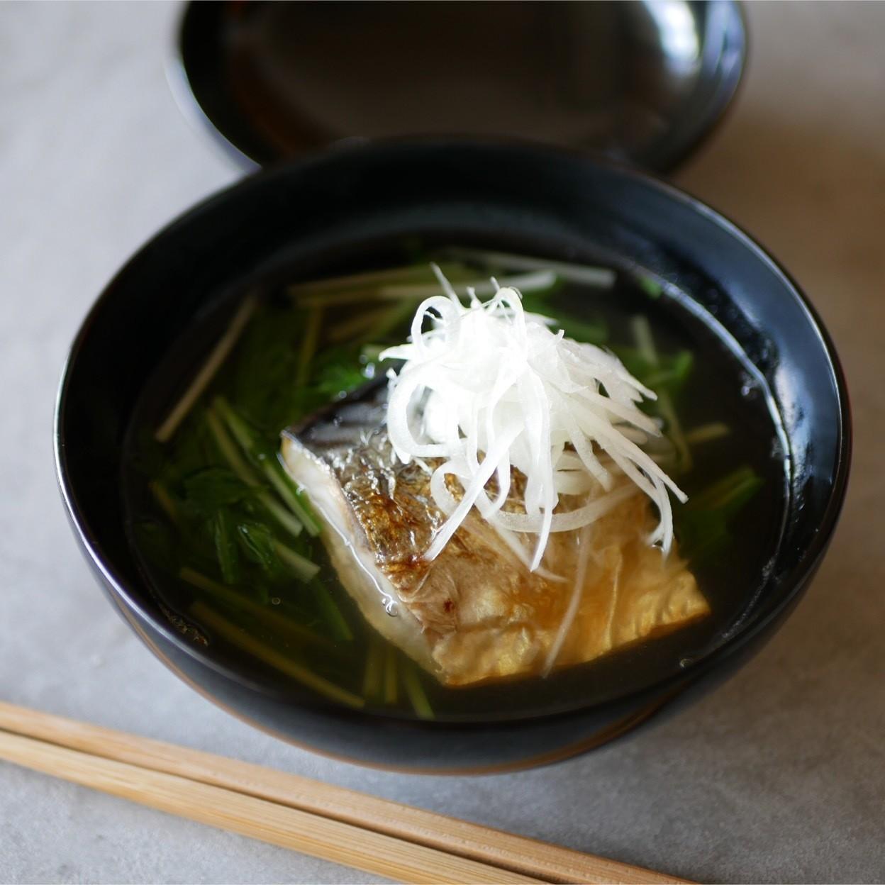 2019.5.26 焼きサバと水菜のお椀仕立て
