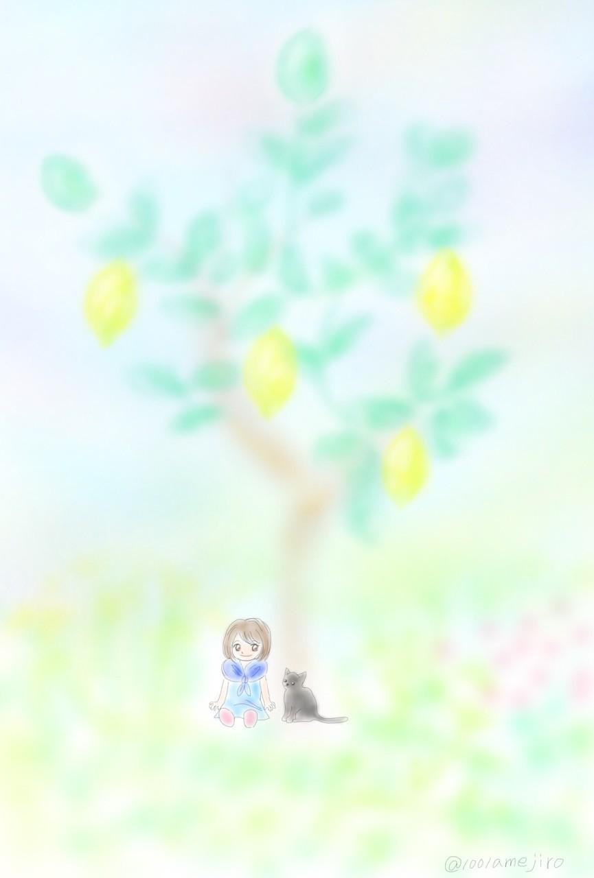 いつかまたあの羽ばたきの音を聞く 僕がレモンの木になる前に  #tanka  #短歌  #イラスト