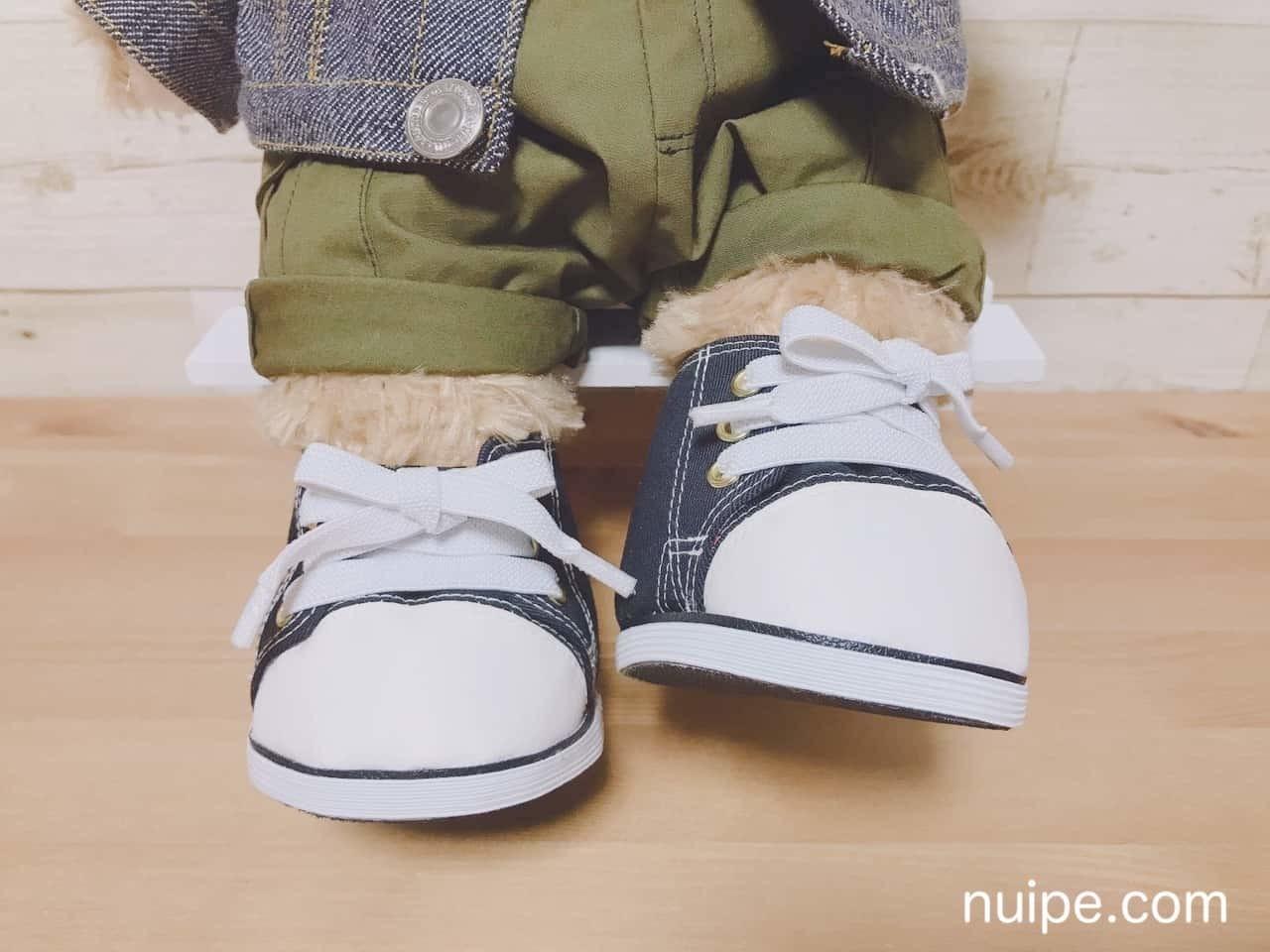 ダッフィーサイズの靴】本格スニーカーの型紙|ぬいぺ|note