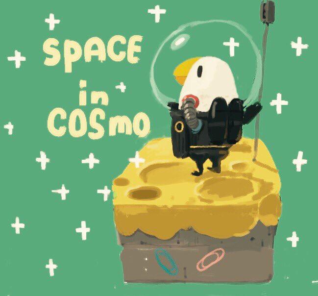 【スペース イン コスモ】 孤独な宇宙で哲学する 賢い宇宙インコ 自分とは何かを見つけるお話し  #アート #インコ #宇宙 #哲学 #孤独