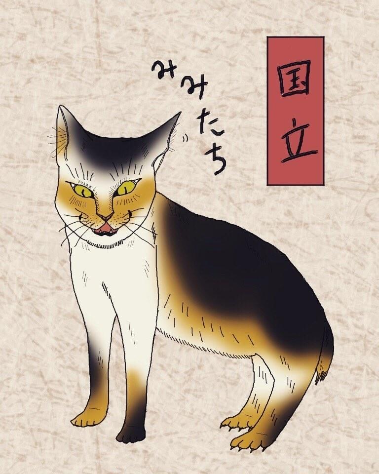 音に耳を立てて反応し、警戒をしている猫。モスキート音も感知する、鋭い聴覚の持ち主です。
