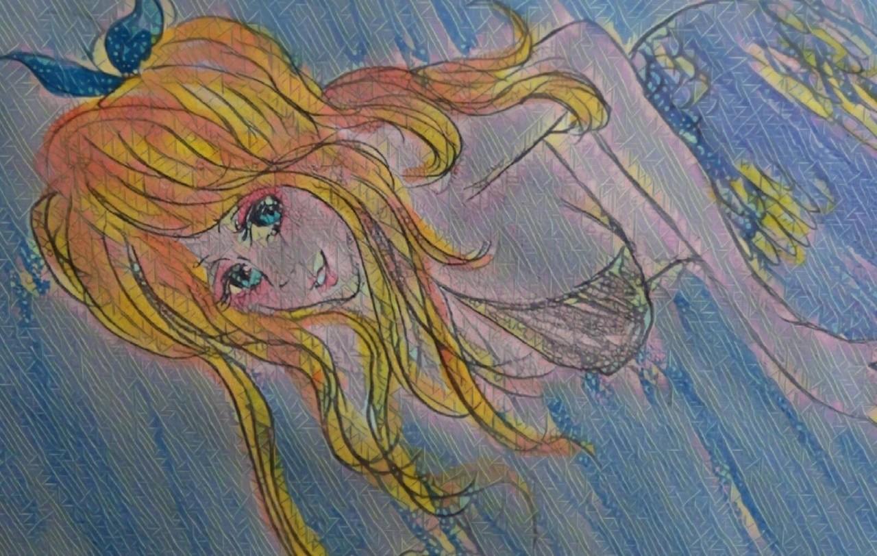 作品紹介とうとう最後の絵に突入しました!!女の子をよく描きます~!!目に痛いカラフルな色合いとか好きです。