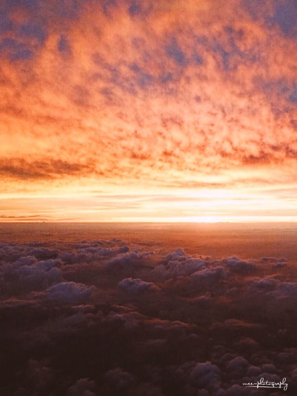 #夕陽 #夕日 #空 #雲 #自然 #カメラ #写真 #sunset #sky #camera #photo #photography