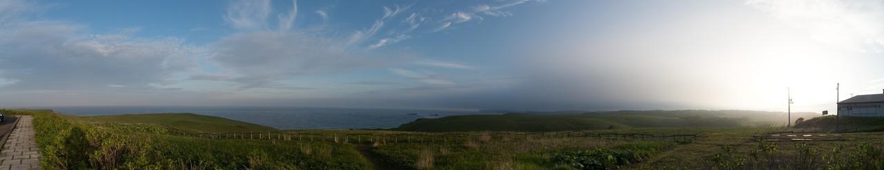 厚岸は琵琶瀬展望台から太平洋を望む