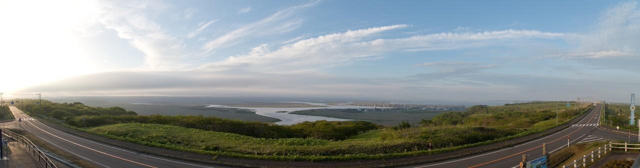 厚岸は琵琶瀬展望台から琵琶瀬川