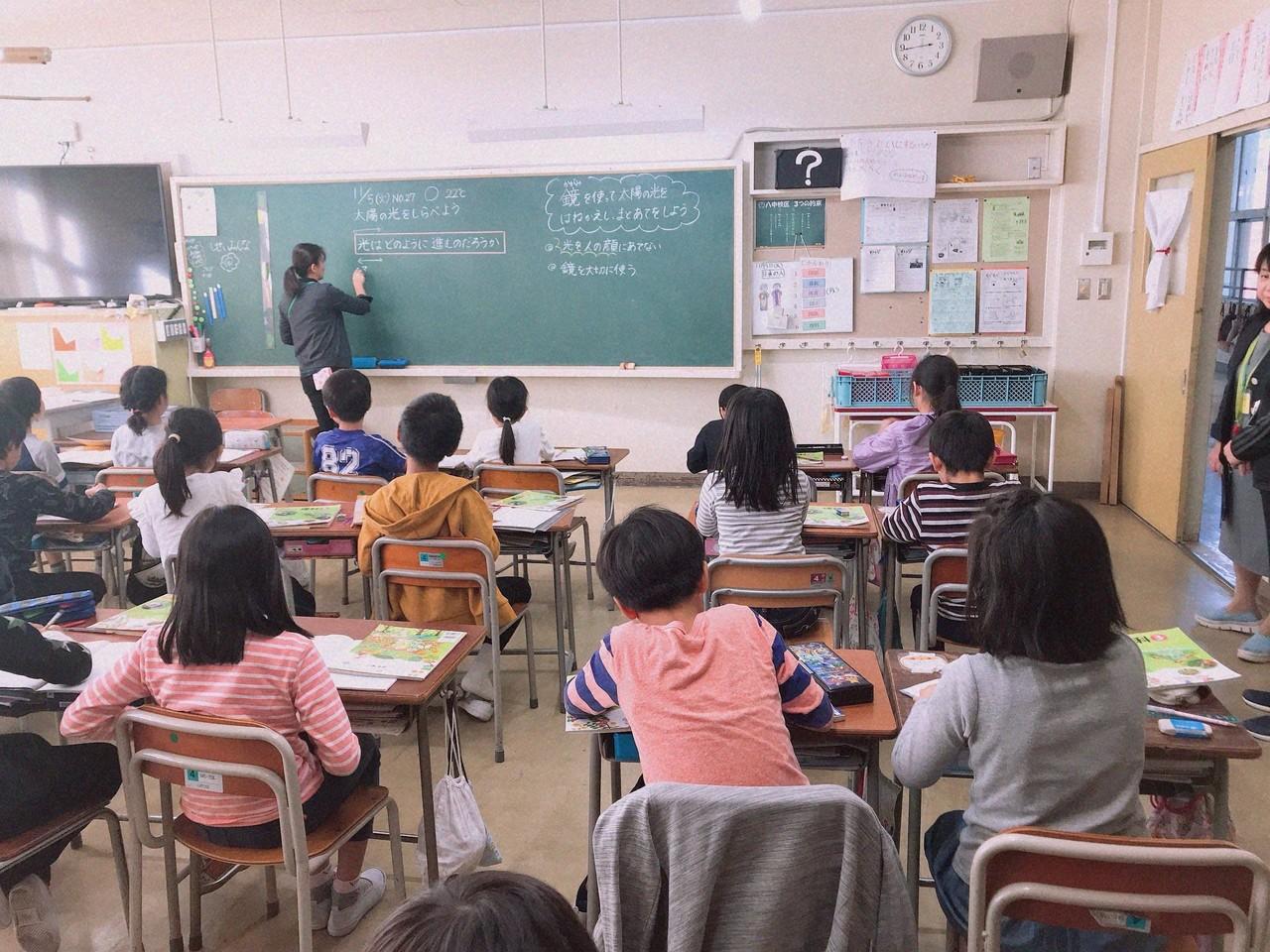北丘小学校授業中風景