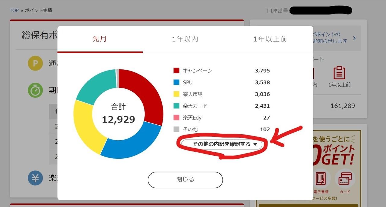Inked楽天ポイント10月実績PCログイン③_LI