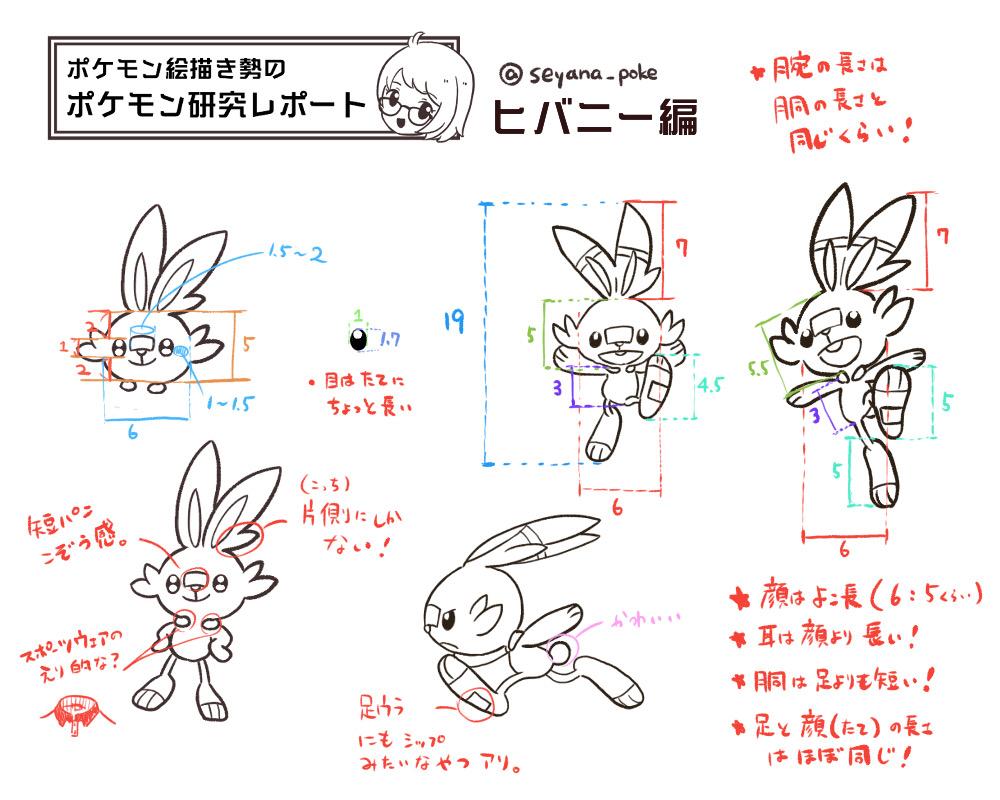 ポケモンを上手く描きたい ポケモン研究レポート 001 ヒバニー編 せやな Note
