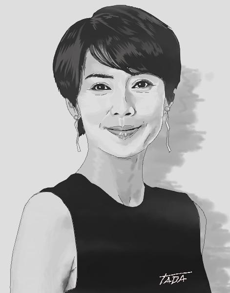 中谷美紀さん描きました。|TADA|note