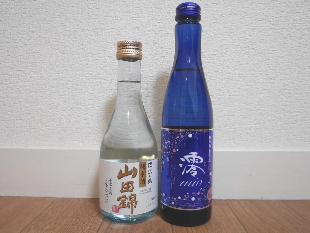 宝酒造さんの「澪」と沢の鶴さんの「山田錦」