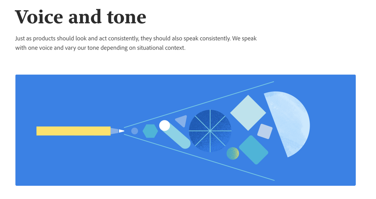 SpectrumのVoice and toneページ