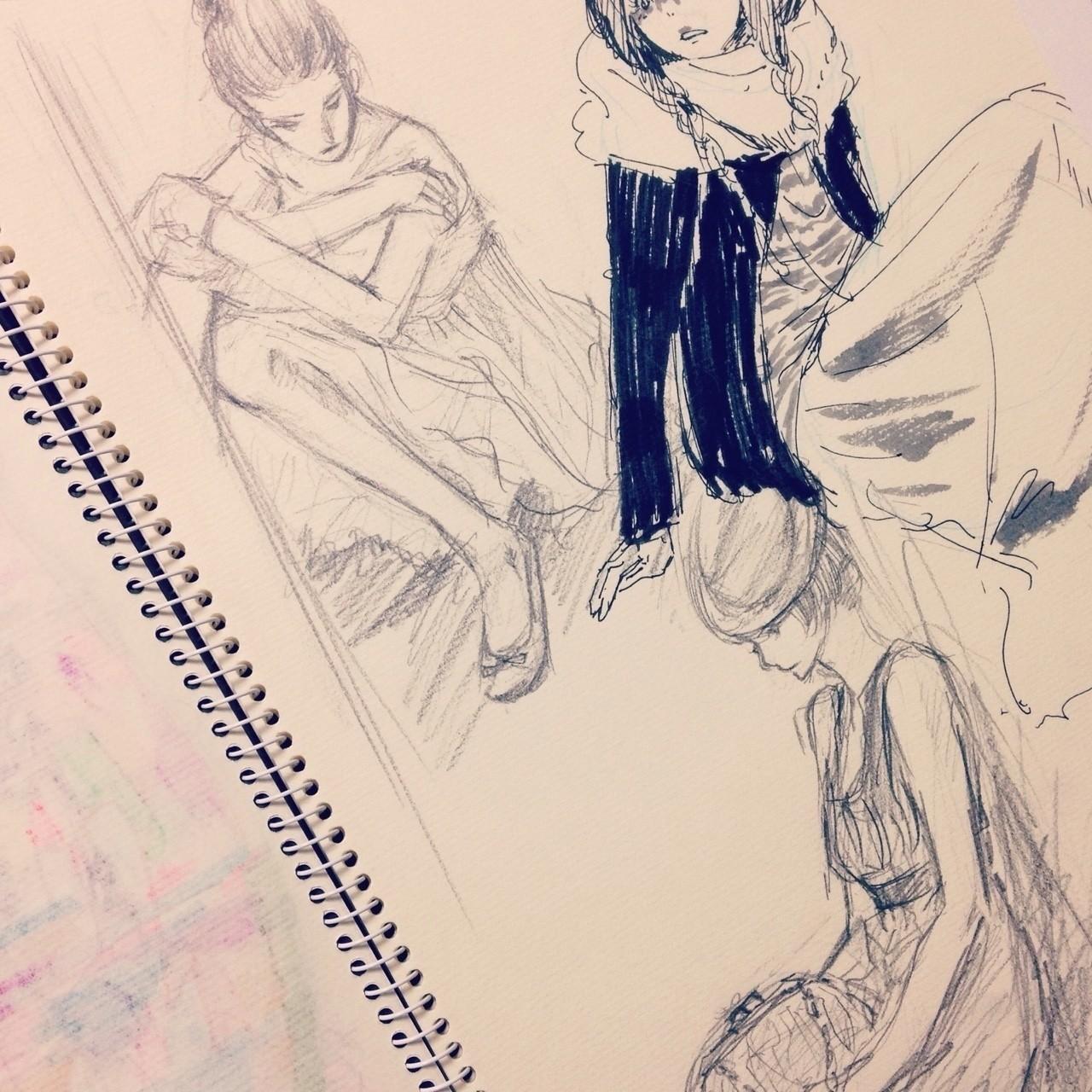 鉛筆で描くのが苦手というか飽きやすいので、結局途中からボールペンになったやつ。  #sketch