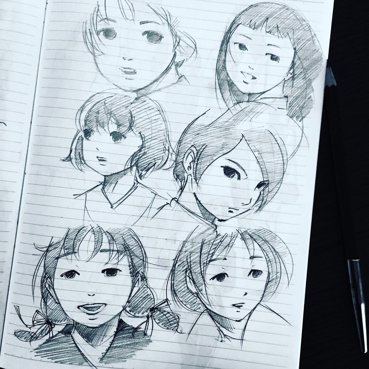 村田蓮爾さんのイラストを参考にしながら女の子の絵を描きましたの新着