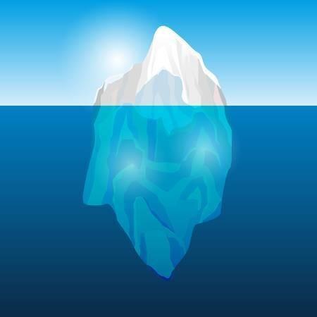 50244848-ベクトル図海の氷山