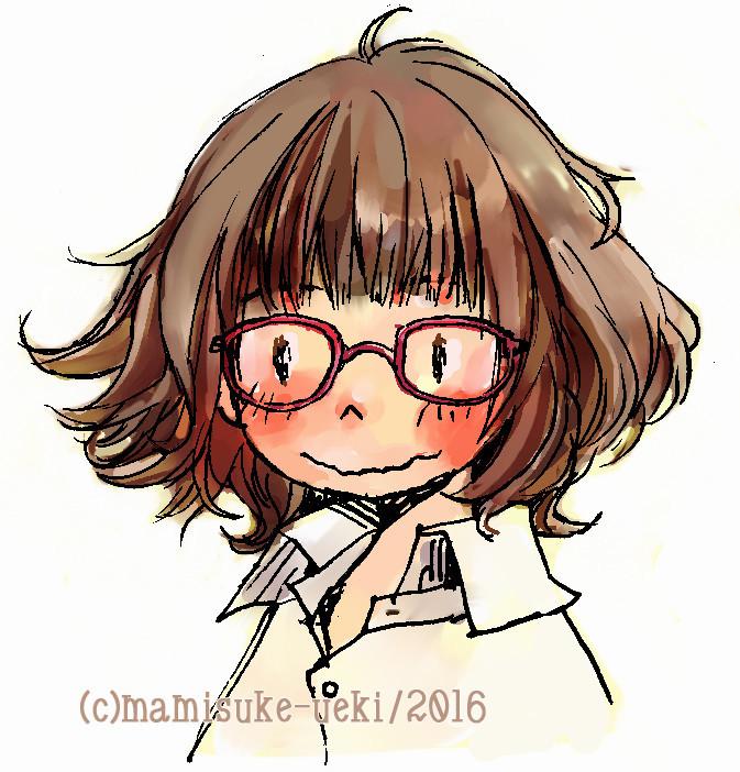眼鏡を変えて髪の毛を切ったのでアイコンも変えましたはじめて毛先