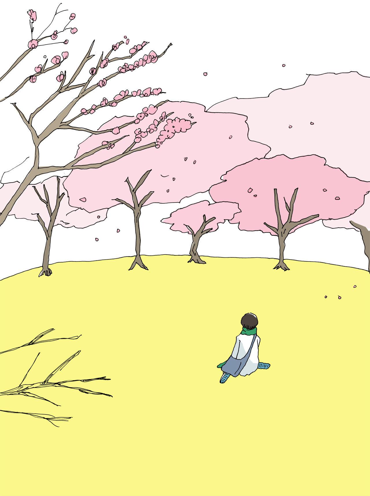 春のイラスト展すすむ屋春のお団子茶屋祭りとうごうさやかnote