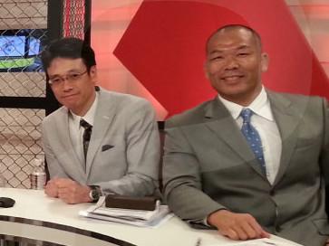 UFC190の生中継後、WOWOWのスタジオにて高阪剛選手と。