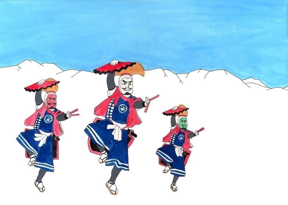 岩手 伝統芸能 イラスト