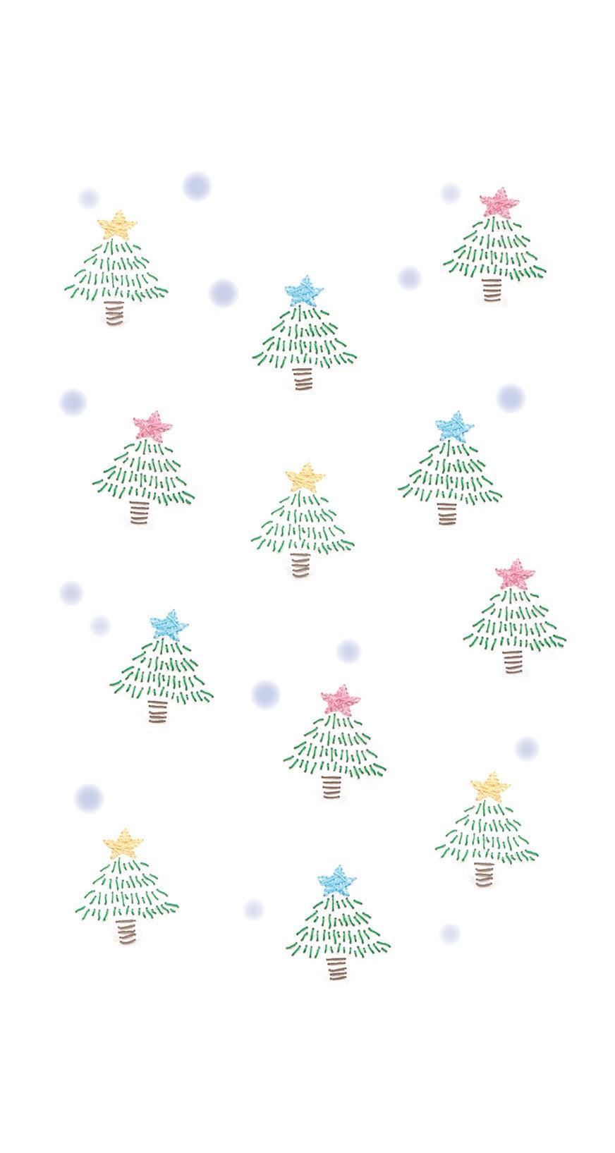 Iphone壁紙 クリスマスツリー ツキシロクミ Note