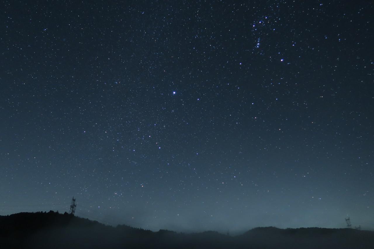 2016年の末、滋賀マキノ地区で撮影した星空