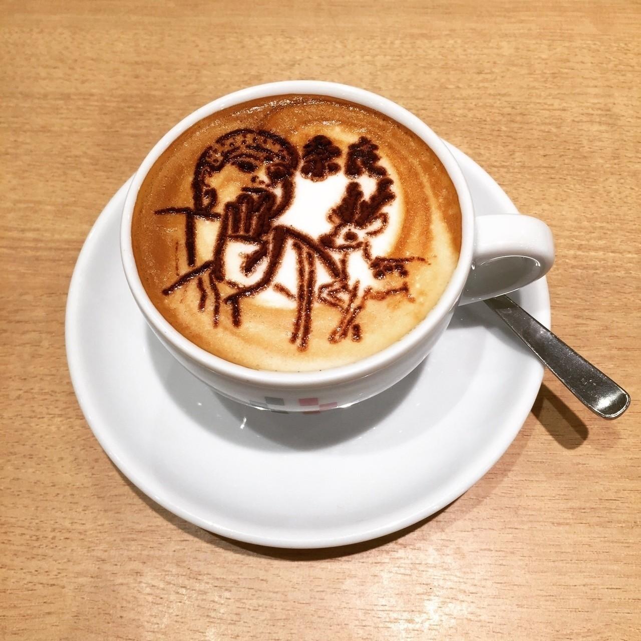 近鉄奈良駅改札出てすぐのカフェにて☕️ 大仏と鹿がパウダーで描かれてるザ・奈良なお飲み物。美味しいっす。 #奈良 #旅 #てくてく散歩