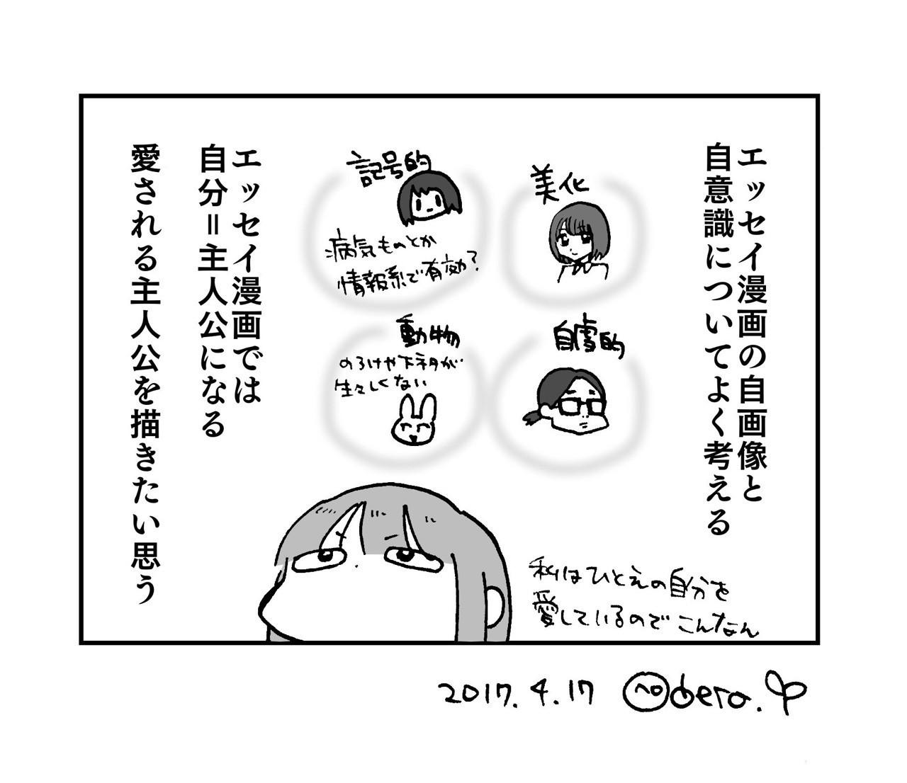 エッセイ漫画における自画像、自...
