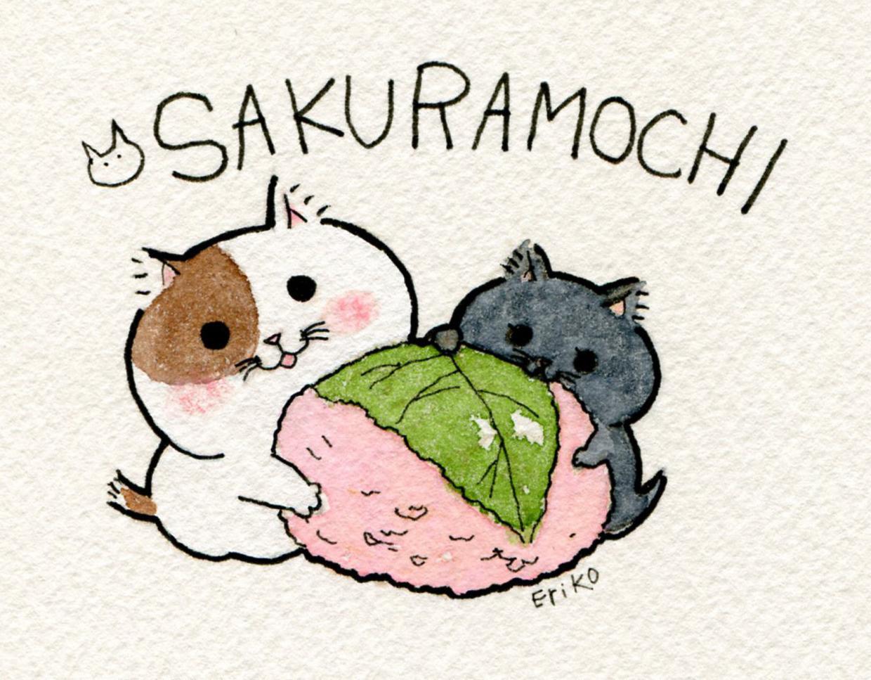 猫とお菓子イラスト絵里子note