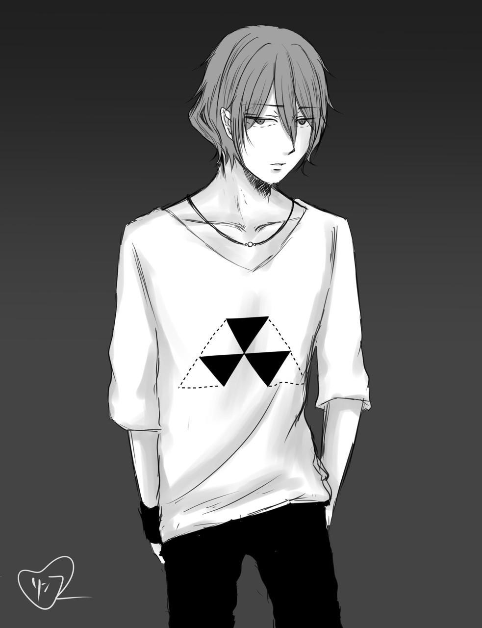 #イラスト #モード #白黒 #モノクロ #メンズ #おしゃれ #ファッション