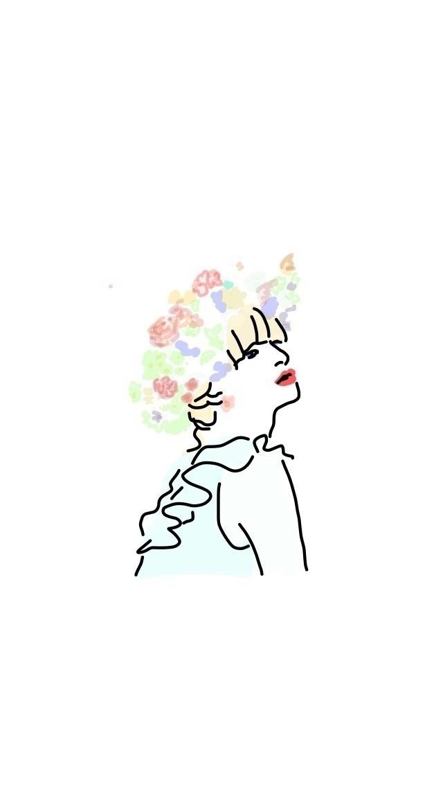 花を買うか、パンを買うか迷ってパンを買う  #illust  #illustration #illustagram  #doodle #design #イラスト #落書き  #fashion #coordinate #ドローイング #drawing #花よりパン #pintarestより #flower