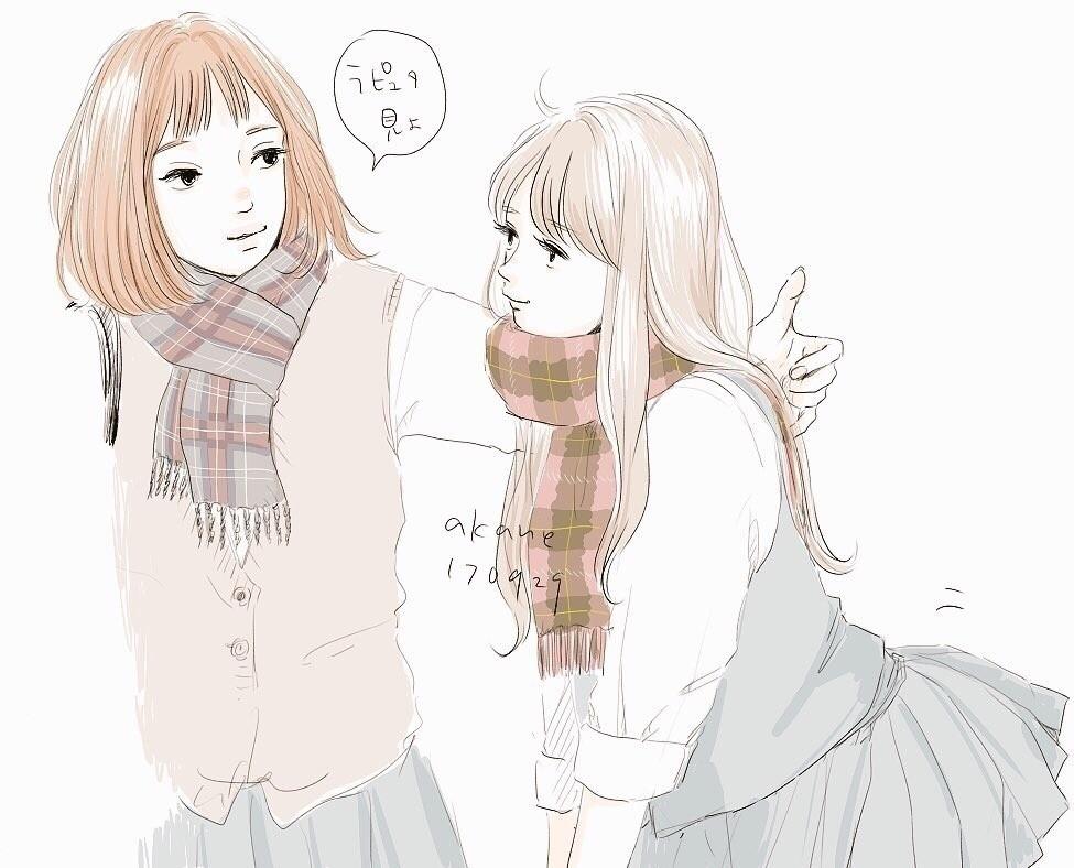 お久しぶりです。JKです。 #girl #girls #女の子 #JK #illustration #illust #絵 #イラスト #秋 #帰る