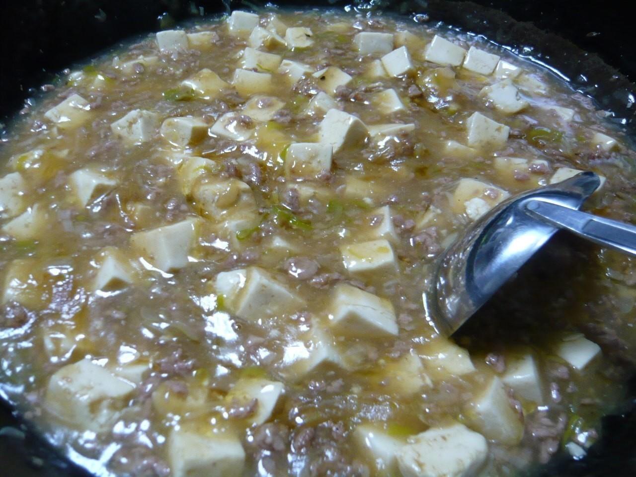 今日の晩御飯はマーボー豆腐!最近ハマってます♪
