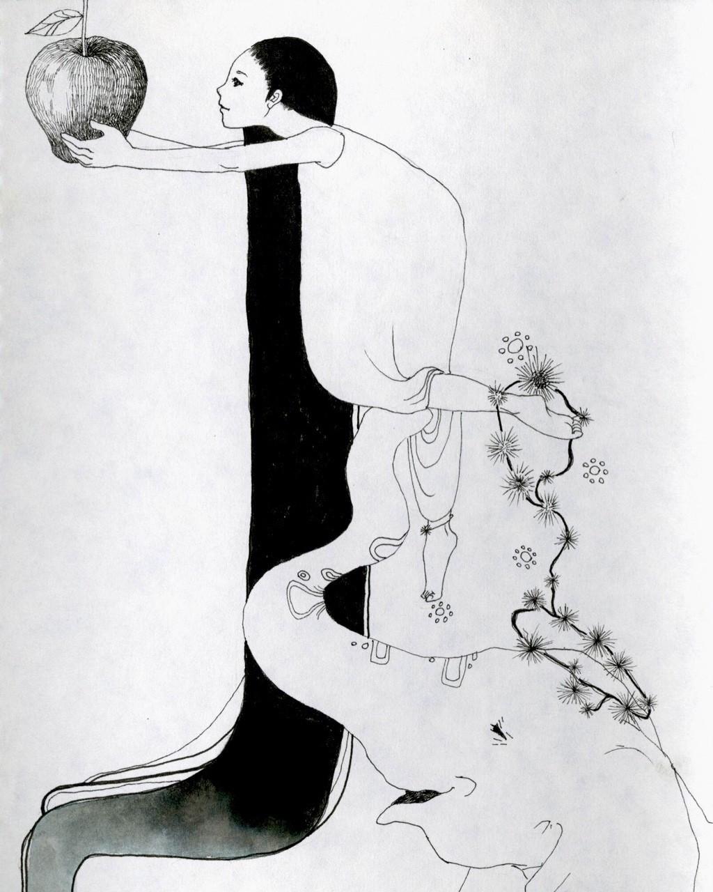 女の子とゾウさんの組み合わせはとても好き #イラスト #絵 #ペン画