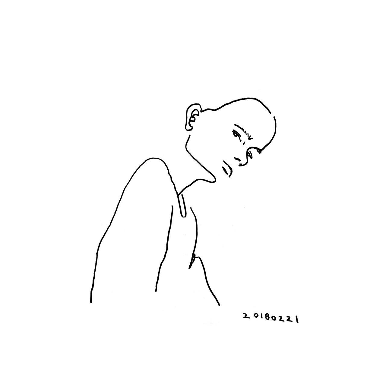 20180221 今日のドローイング #illust #illustration #croquis #doodle #drawing #kawaii #cool #fashion #ennui #アンニュイ #イラスト #ファッション #クロッキー #ドローイング