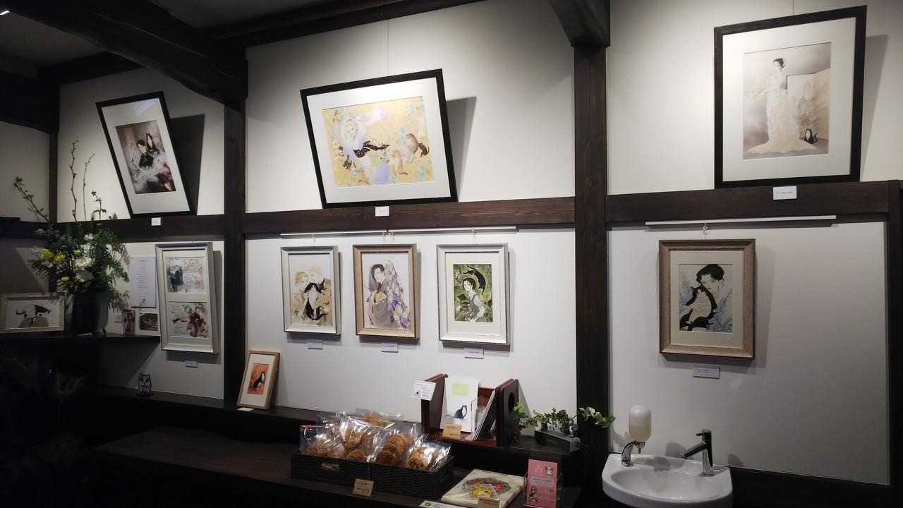 2月22日。川越のgallery&cafe平蔵さんに行ってきました。大好きな波津先生の原画展。遠目からの写真はOKとのことで、撮らせていただきました。
