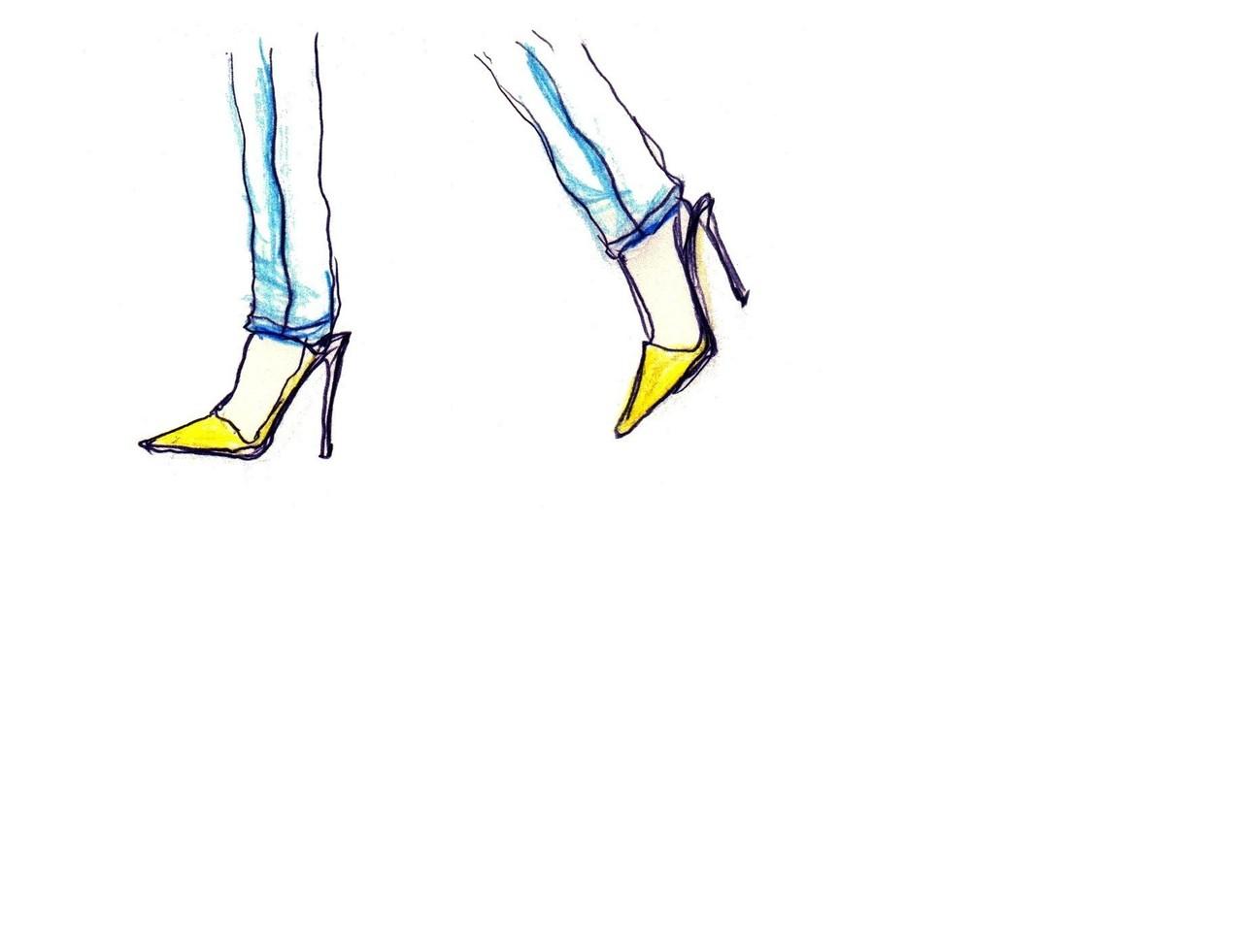 ファッション_ヒール黄色note