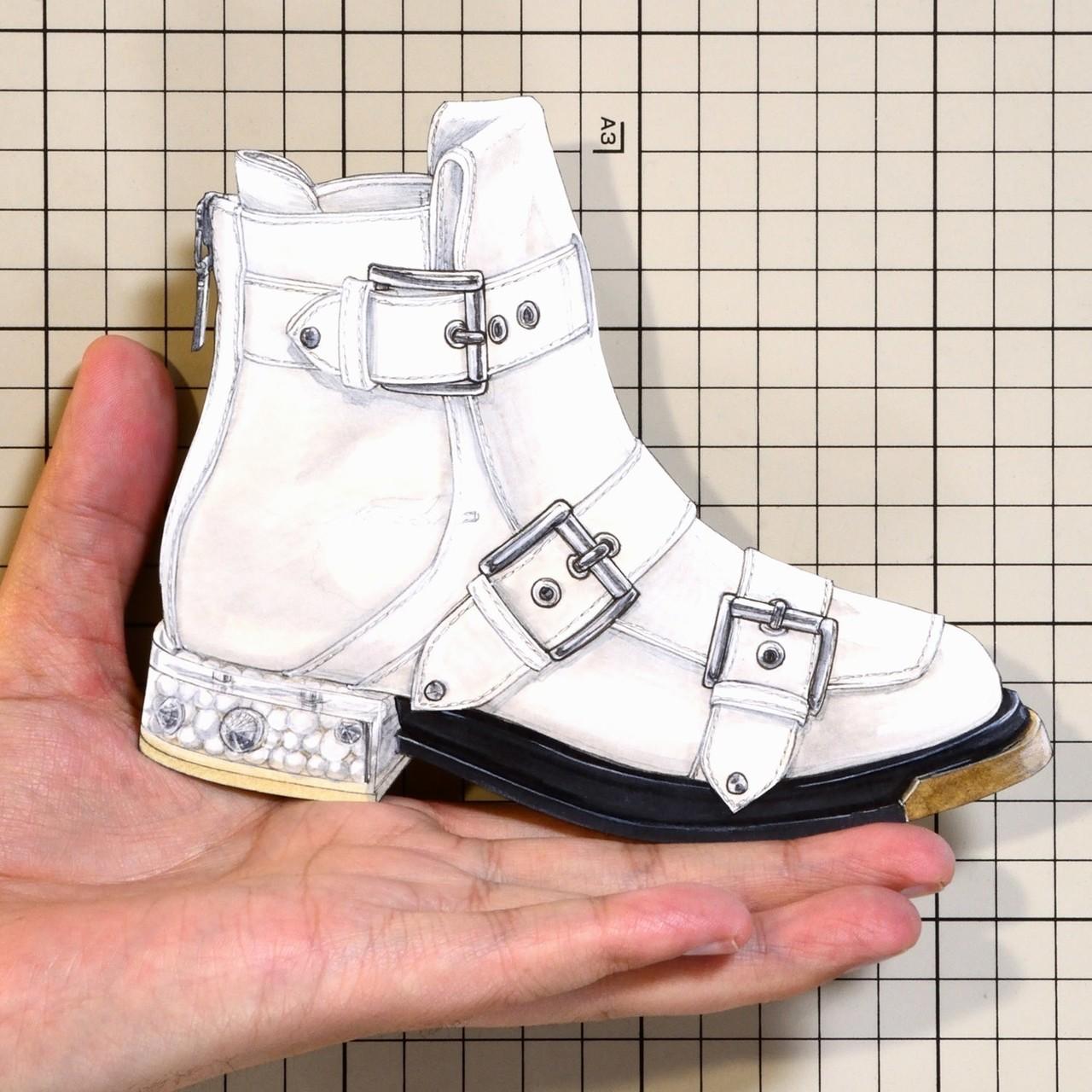 "Shoes:00901 ""Alexander McQueen"" Three Buckle Boot(SS2018)"