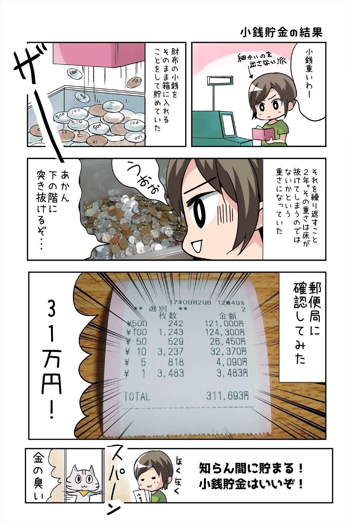 小銭貯金で○十万円貯めた話