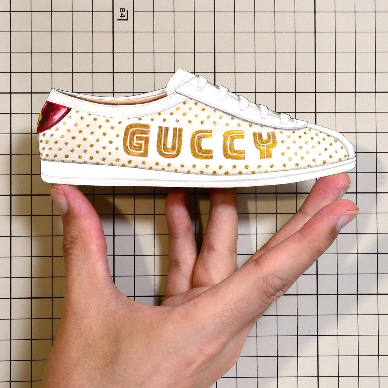 """Shoes:00911 """"GUCCI"""" Falacer Guccy Print Sneaker(SS2018)"""