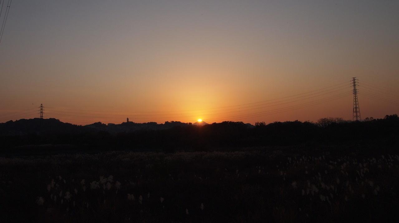 多摩川と浅川の分岐点をまたぐ、右が桜ヶ丘線30号、左が31号。2013年11月撮影。