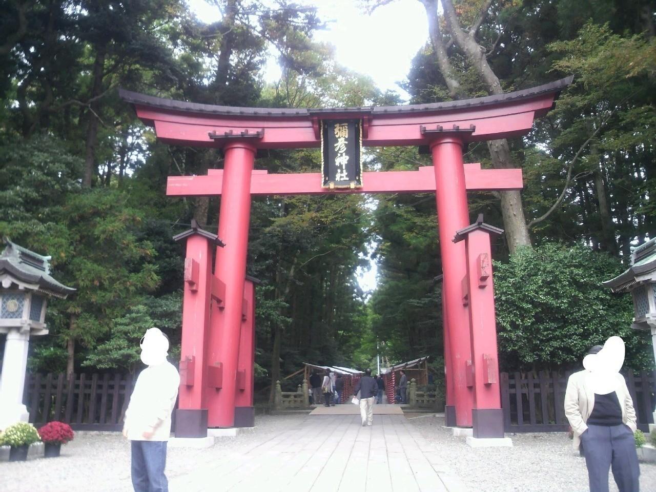 越後・一の宮である彌彦神社の鳥居!