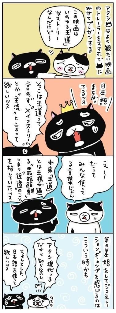 もう少し、黒猫の持つ正しい日本語の世界を学ぶ姿勢を持った方がいいかもなあ…なんて考えちゃいました。