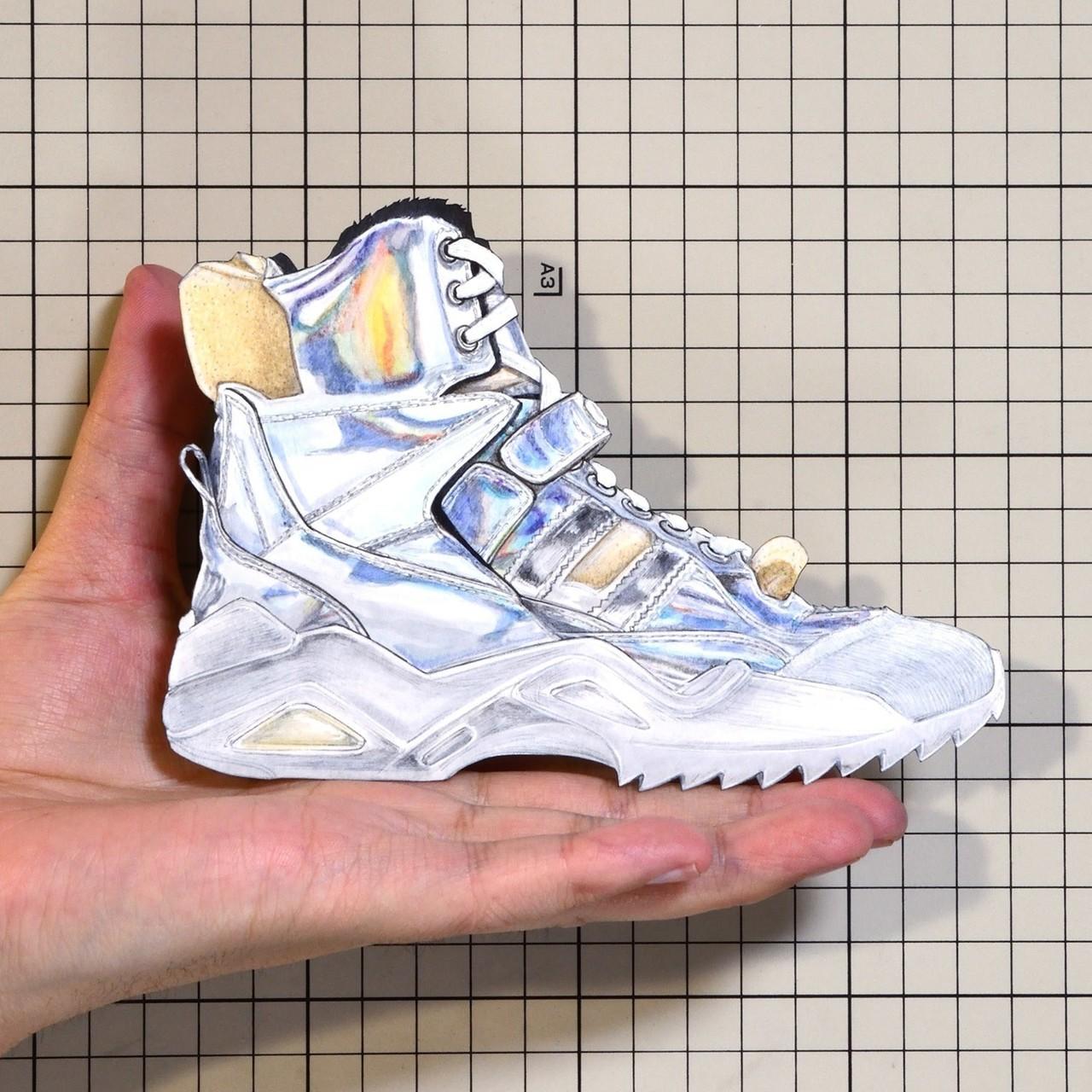 "Shoes:00935  ""Maison Margiela"" Artisanal High Top Sneaker ""Retro Fit""(FW2018)"