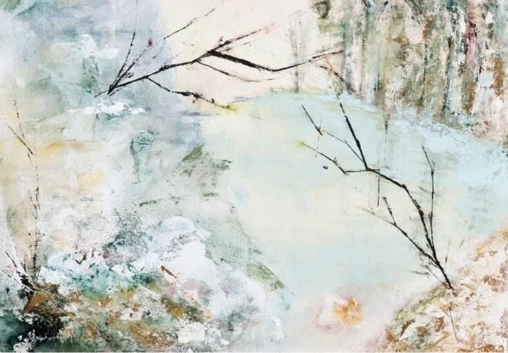 #絵 #絵画 #抽象画 #自然 #アクリル #水彩
